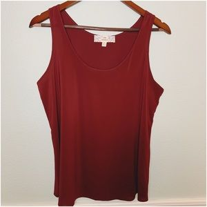 Pink Republic Solid Maroon Sleeveless Top